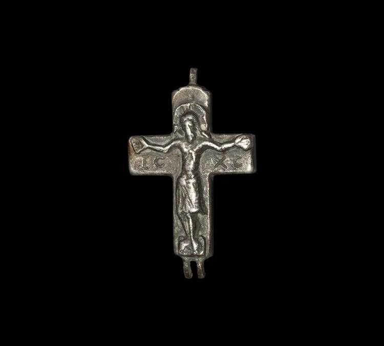 Medieval Reliquary Cross Pendant Panel