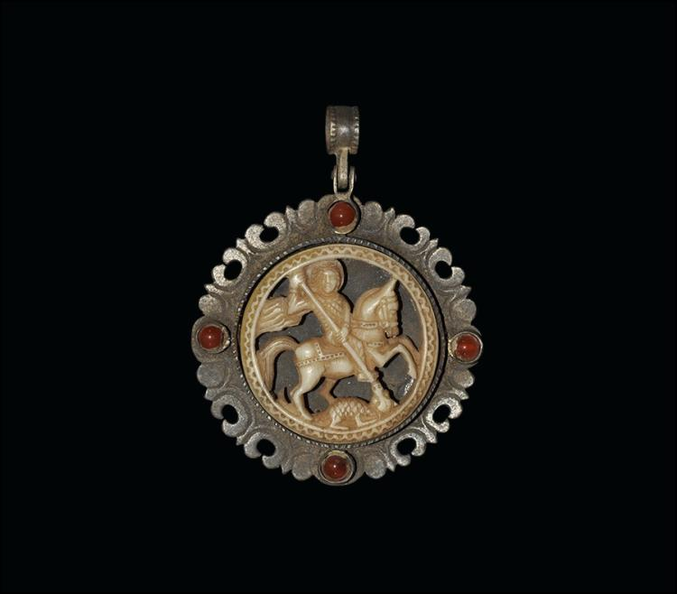 Post Medieval Saint George and Dragon Pendant