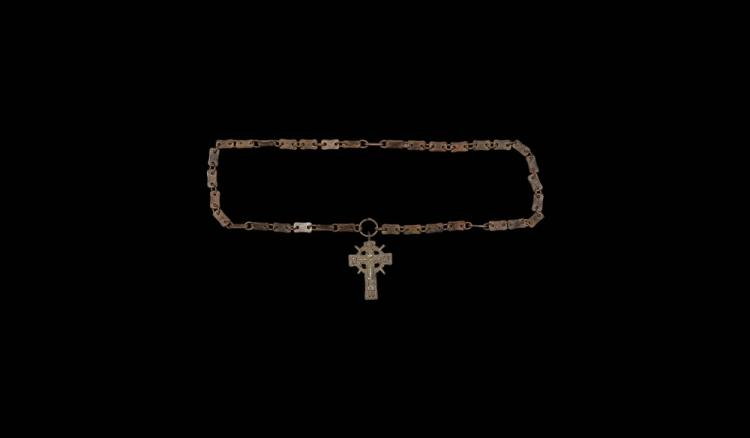 Post Medieval Cross Pendant Necklace