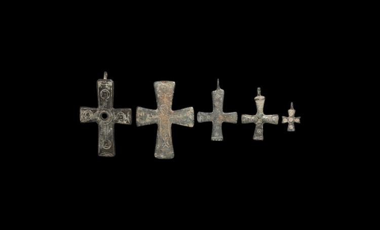 Byzantine Cross Pendant Group