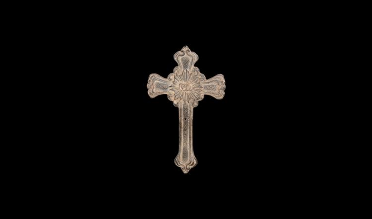 Post Medieval Cross Mount with Face