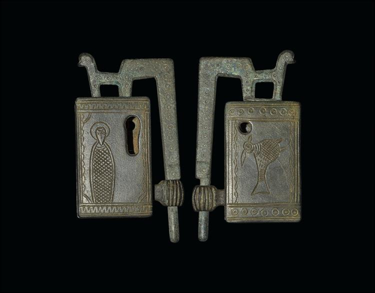 Byzantine Lock Case with Bird and Saint