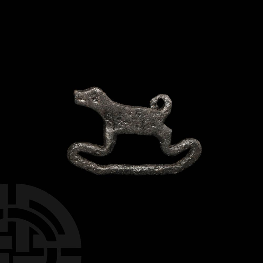 Viking Age Fire Striker with Dog Handle