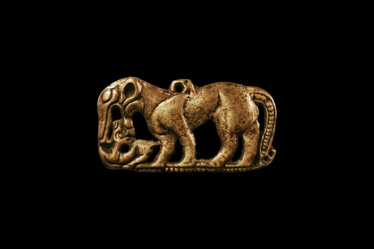 Chinese Ordos Devouring Beast Buckle Plate