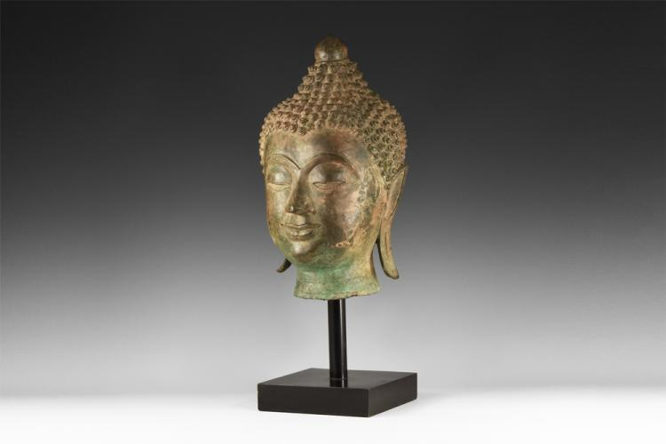 Thai Lifesize Buddha Statue Head