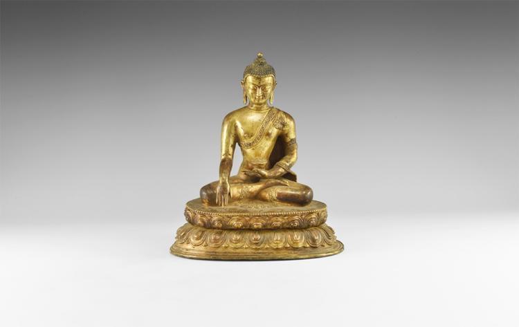 Nepalese Gilt Buddha Statuette