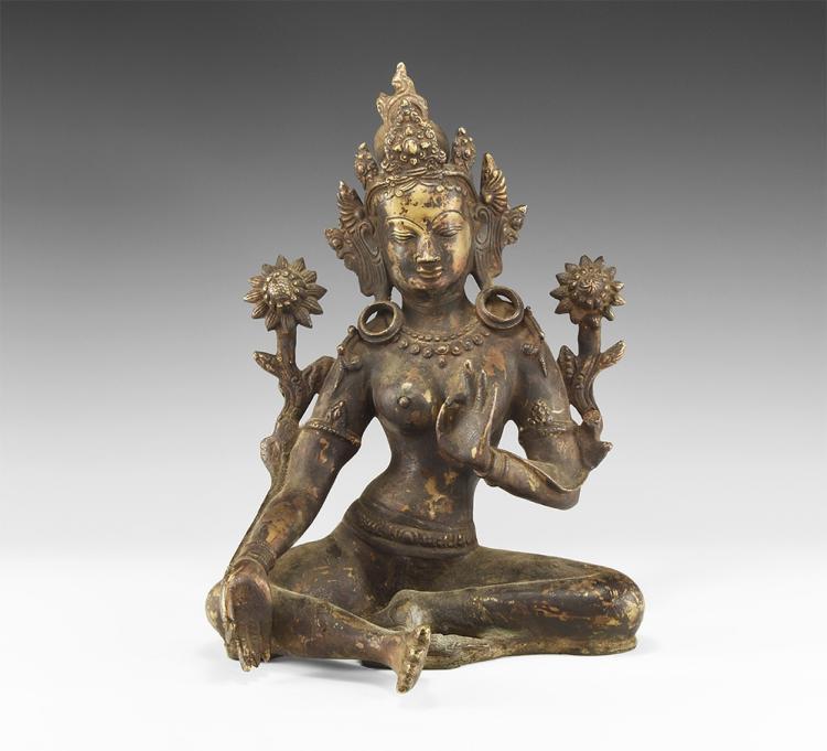 Tibetan Arya Tara Gilt Figure