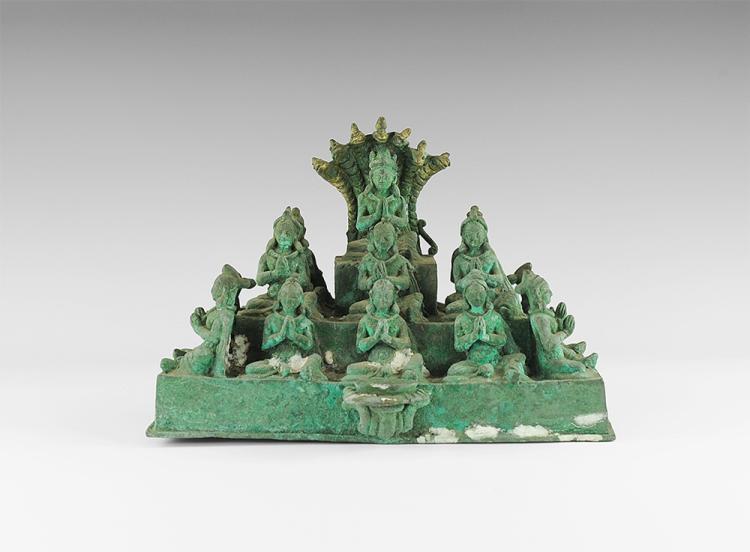 Cambodian Buddha and Bodhisattvas Mandala Tableau