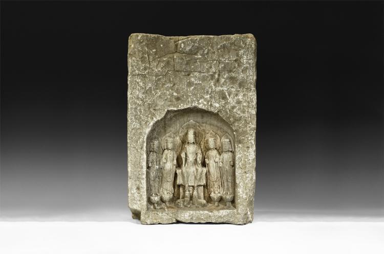 Chinese Large Ming Buddha and Bodhisattvas Sculpture