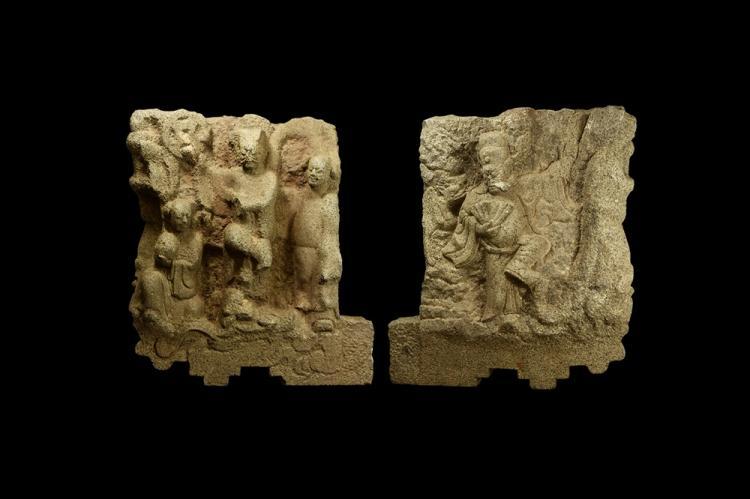 Chinese Bifacial Figural Sculpture