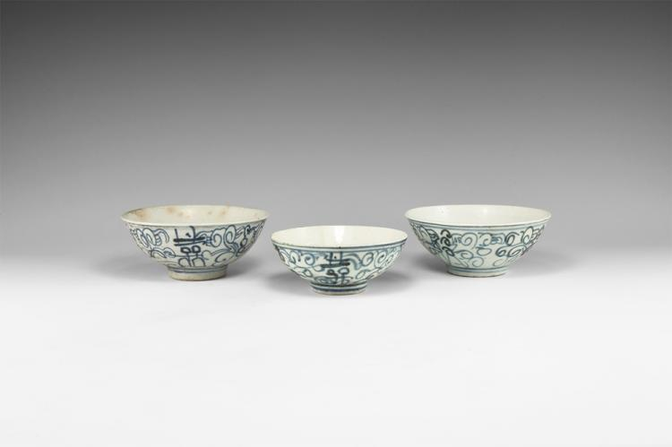 Chinese Blue and White Bowl Group