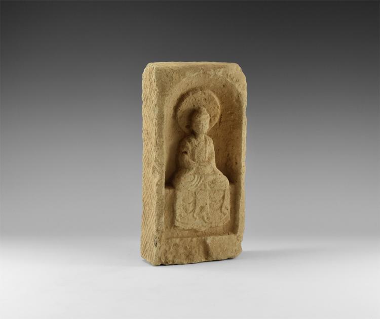 Chinese Buddha Figural Brick