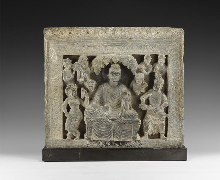 Gandharan Temptation of Buddha Panel