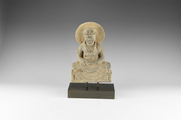 Gandharan Bodhisattva Maitreya Statuette