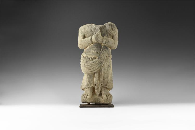 Gandharan Standing Worshipper Torso