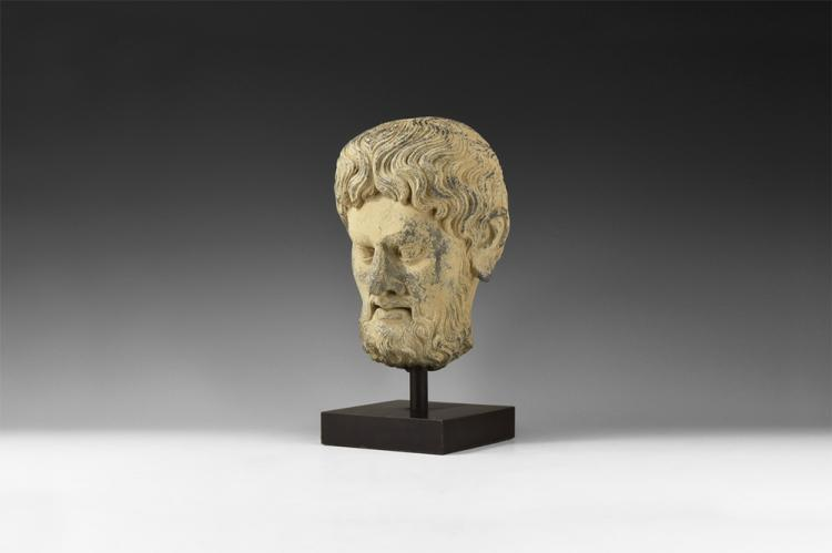 Gandharan Bearded Bust