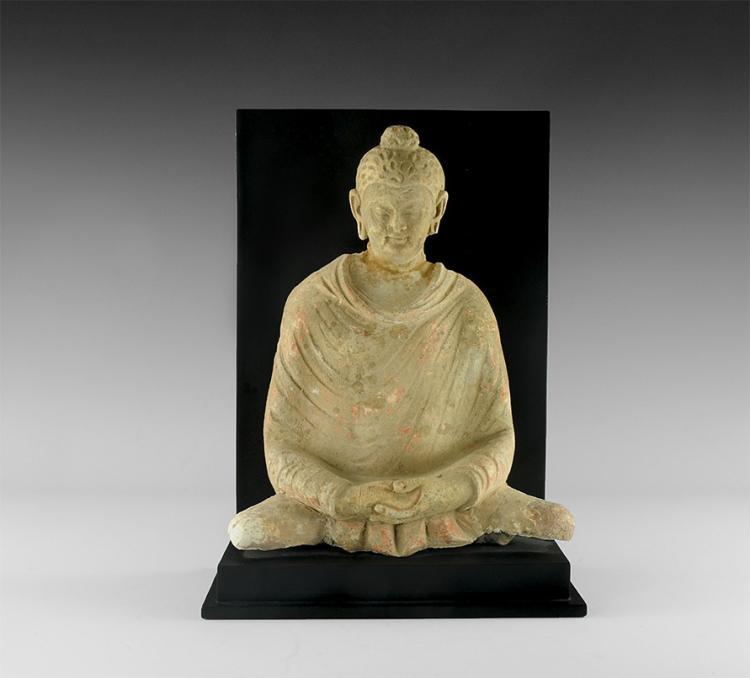 Gandharan Stucco Seated Buddha