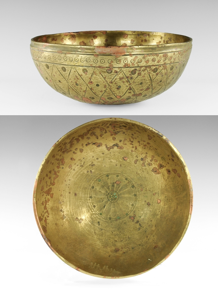 Gandharan Large Decorated Bowl
