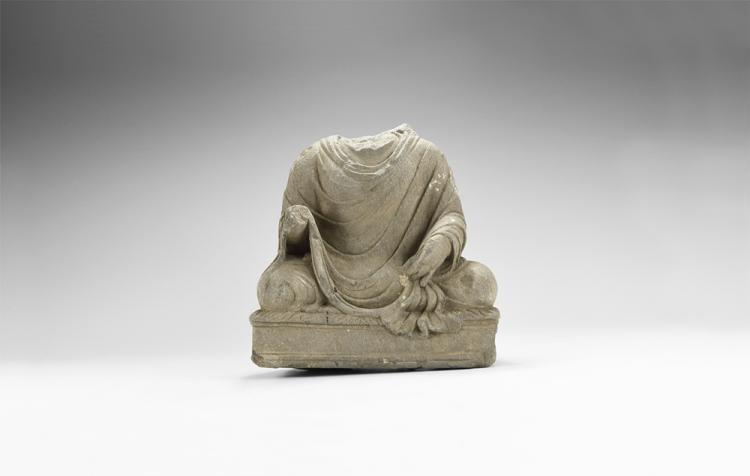 Gandharan Seated Buddha Torso
