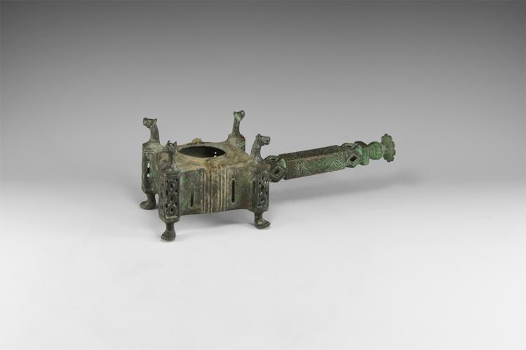 Islamic Incense Burner with Poppy-Head Terminal
