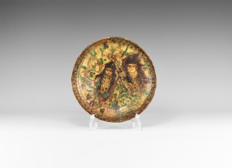 Islamic Glazed Figural Bowl