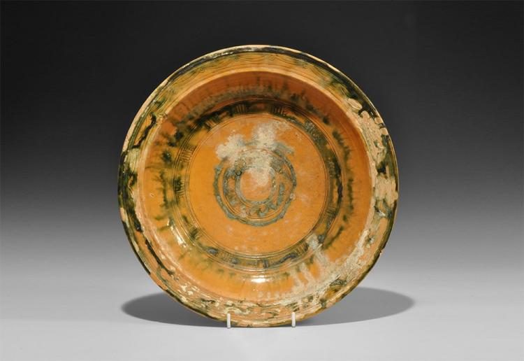 Islamic Glazed Footed Bowl