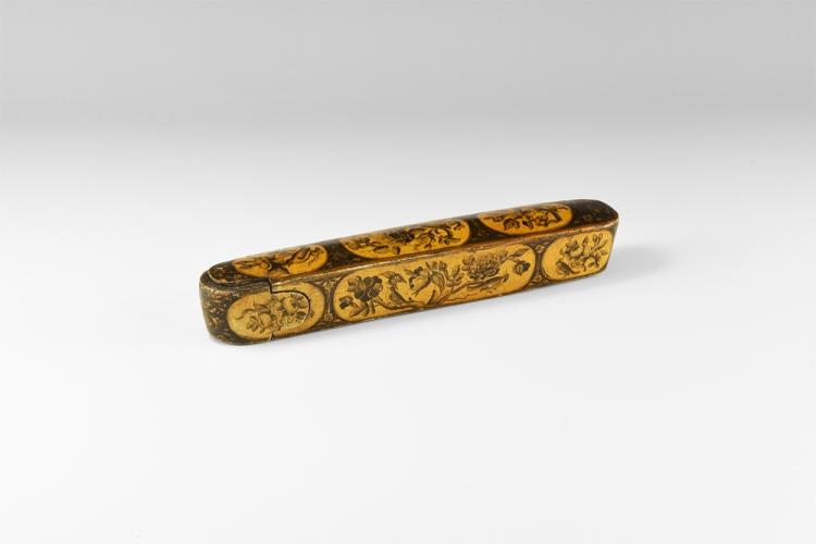 Islamic Qajar Decorated Pen Box
