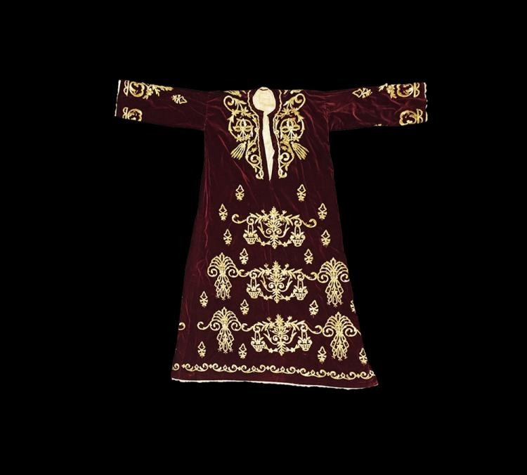 Islamic Ottoman Coat with Gilt Embroidery