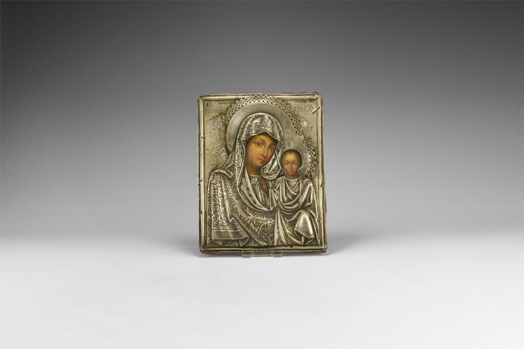 Post Medieval Russian Icon of Kazanskaya Mother of God