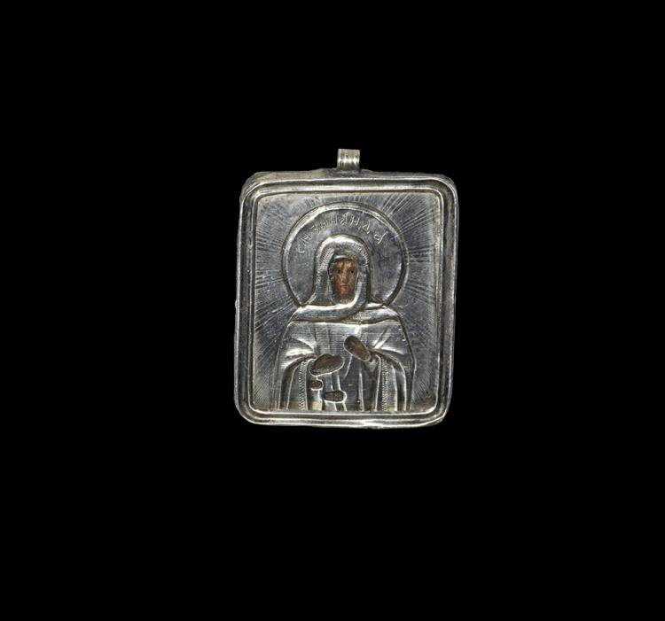 Post Medieval Russian Baptismal Icon with Saint Zenaida