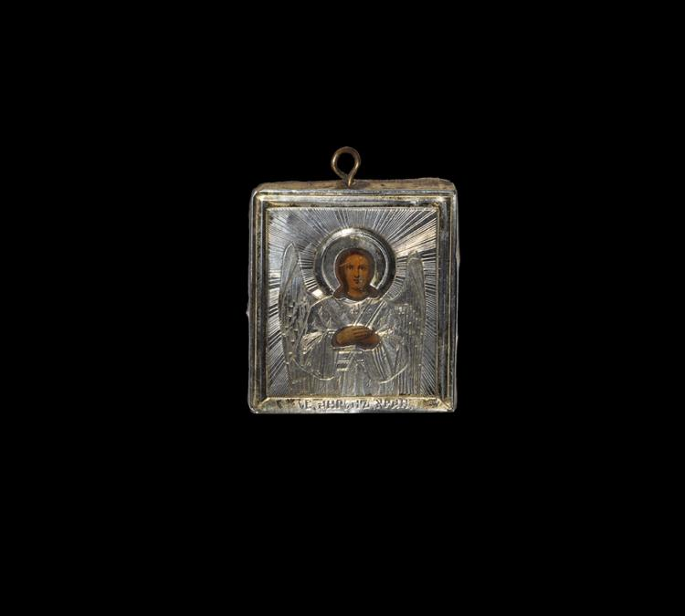 Post Medieval Russian Baptismal Icon with Guardian Angel