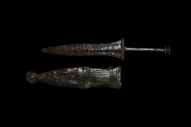 Roman Pugio Dagger with Scabbard