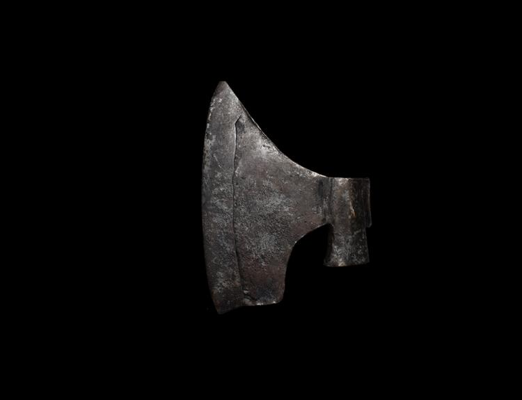 Medieval Central European Axehead with Cross and Maker's Marks