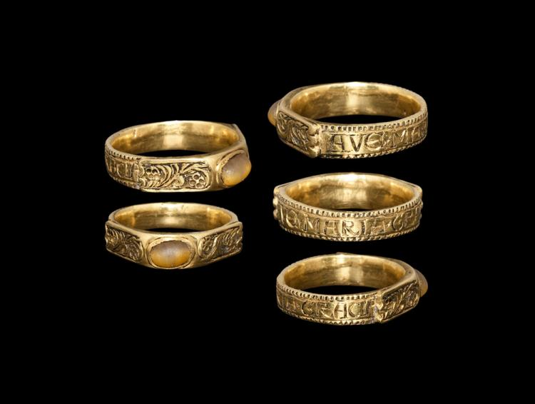 Medieval Gold Ring with 'AVE*MARIA*GRACIA'