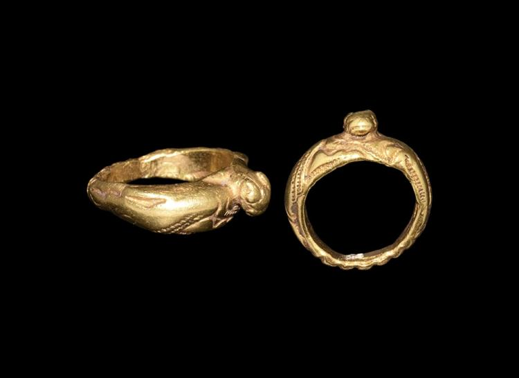 Medieval Norman Gold Ring with Lion