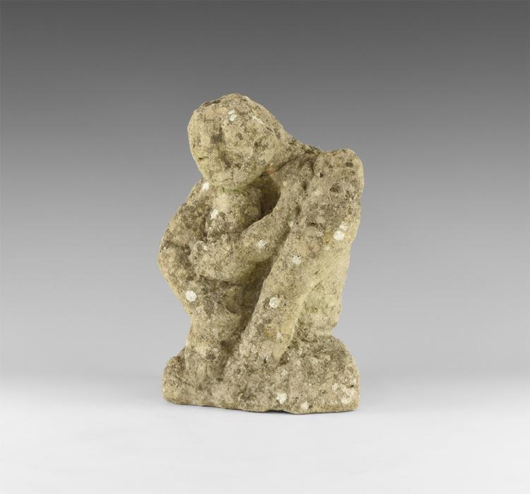 Medieval Crouching Figure