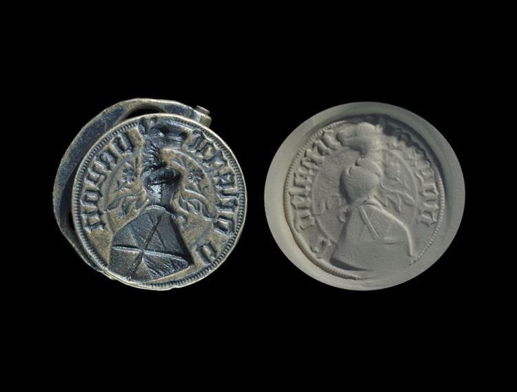 Medieval 'Bayonne Family' Heraldic Seal Matrix