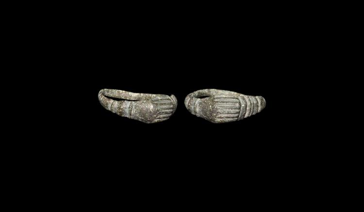 Medieval Clasped-Hands Marriage Ring