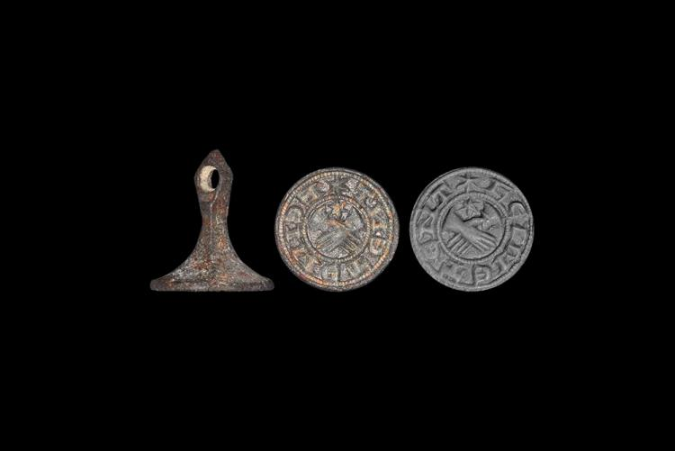 Medieval Seal Matrix Inscribed 'Faith/Loyalty sustains me'