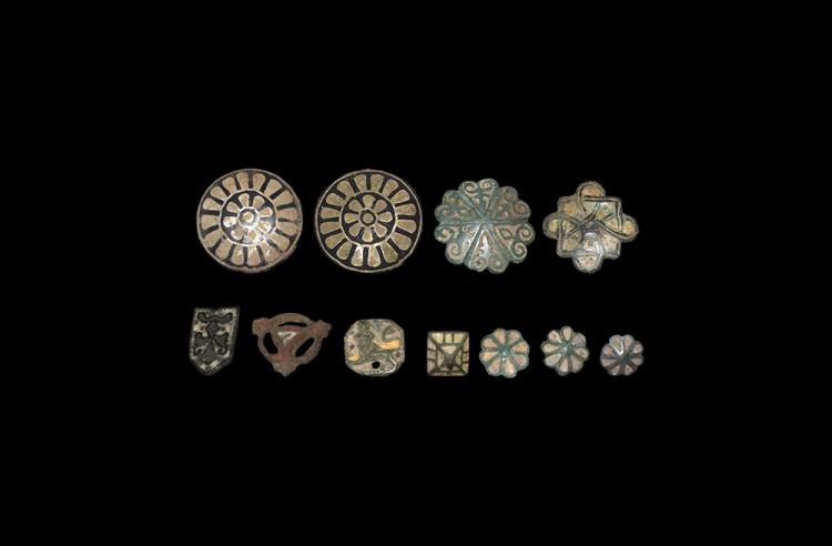 Medieval Enamelled Mount Group