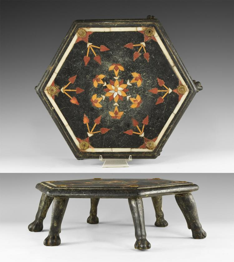Post Medieval Deccan Inlaid Table