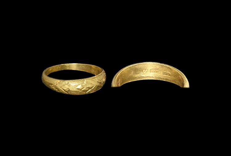 Post Medieval Renaissance Engraved Ring
