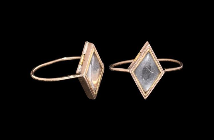 Post Medieval Crystal Locket Ring