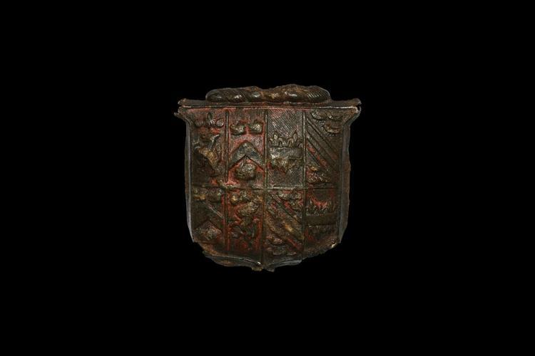 Post Medieval Heraldic Shield Mount