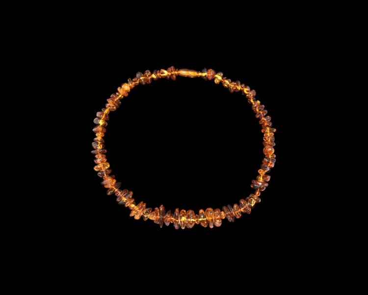 Post Medieval Clear Baltic Amber Bead Necklace