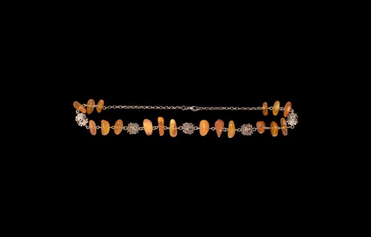 Post Medieval Moroccan 'Amber' Bead Necklace