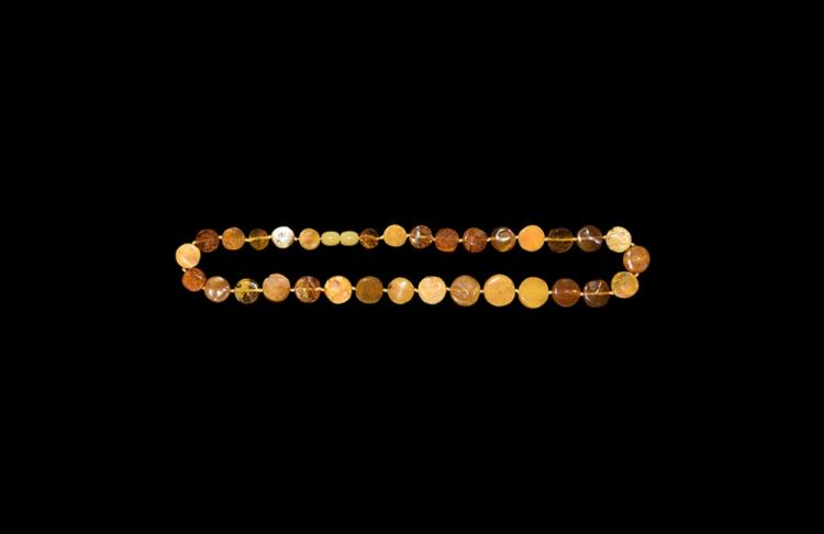 Post Medieval Opaque Baltic Amber Bead Necklace