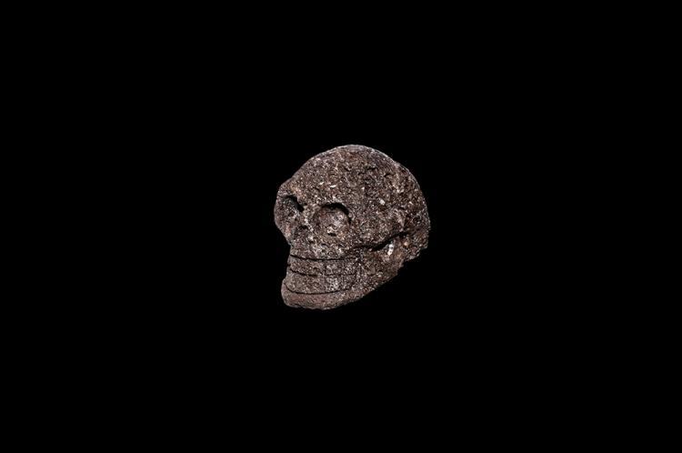 Post Medieval Volcanic Lava Skull
