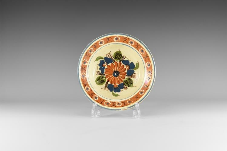 Post Medieval Dutch Decorated Dish