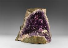 Natural History - Large Amethyst 'Crystal Cave'.